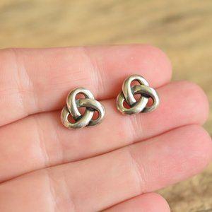 James Avery Trefoil Sterling Silver Stud Earrings